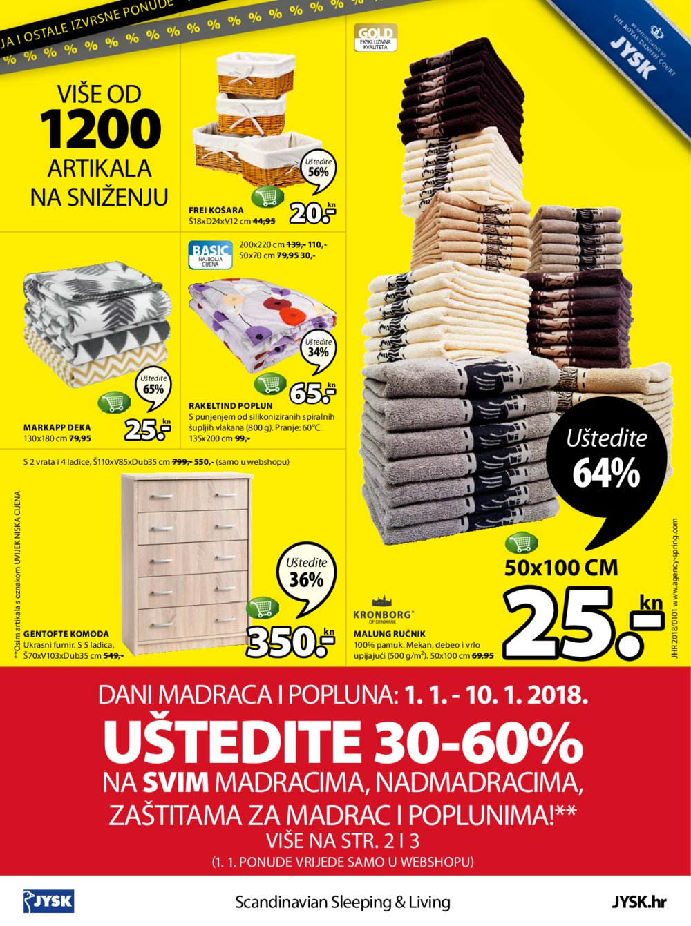 JYSK katalog Akcija 25.12.-17.01.2017.