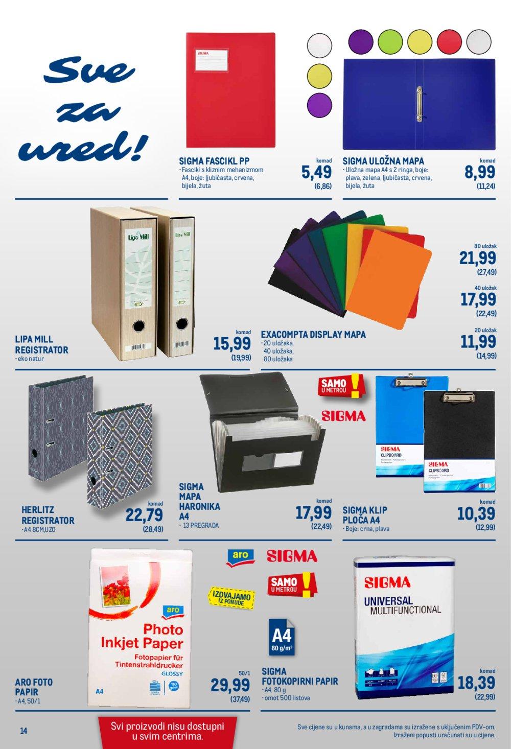 Metro katalog Akcija Neprehrana 23.07.-05.08.2020. Jankomir i Sesvete