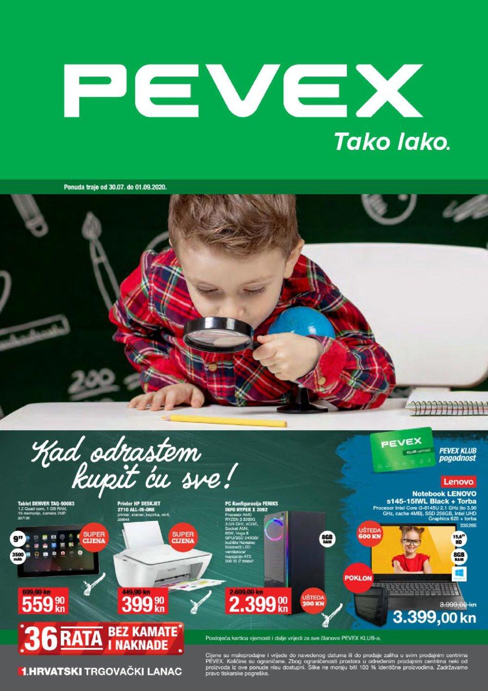 Pevex katalog Kad odrastem, kupit ću sve 30.07.-01.09.2020.