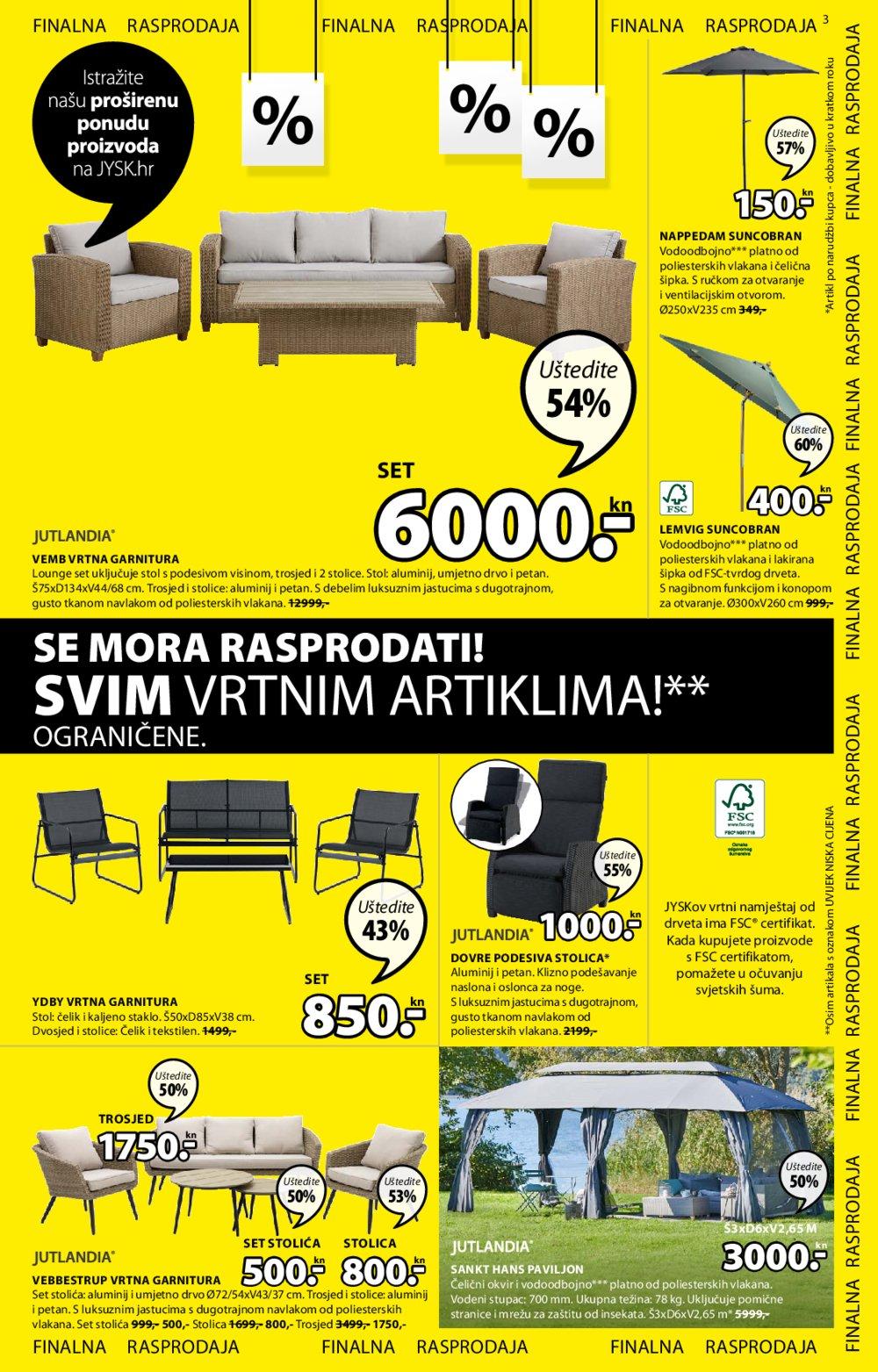 Jysk katalog Finalna rasprodaja 30.07.-12.08.2020.