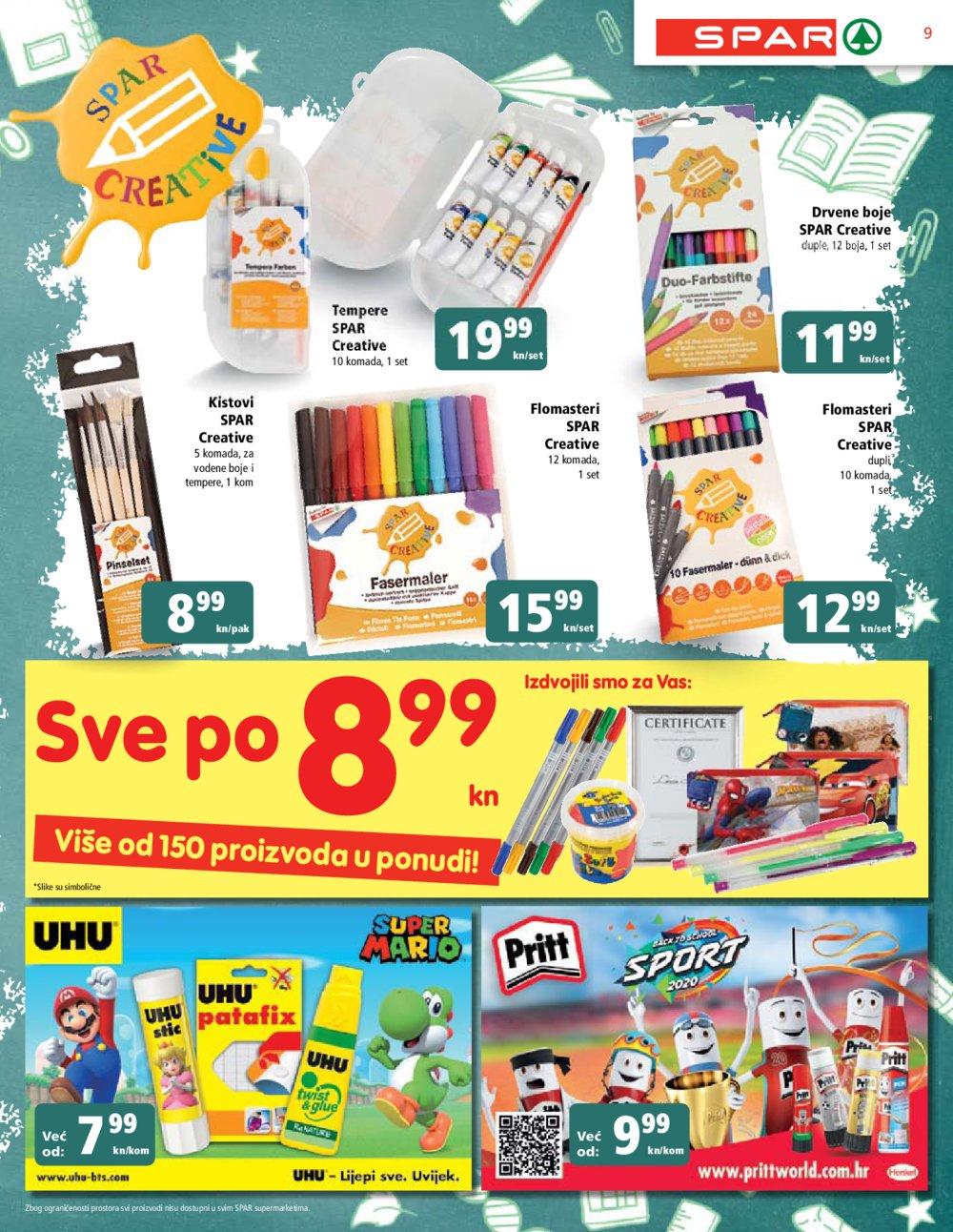 Spar katalog Sve za školu 12.08.-25.08.2020.
