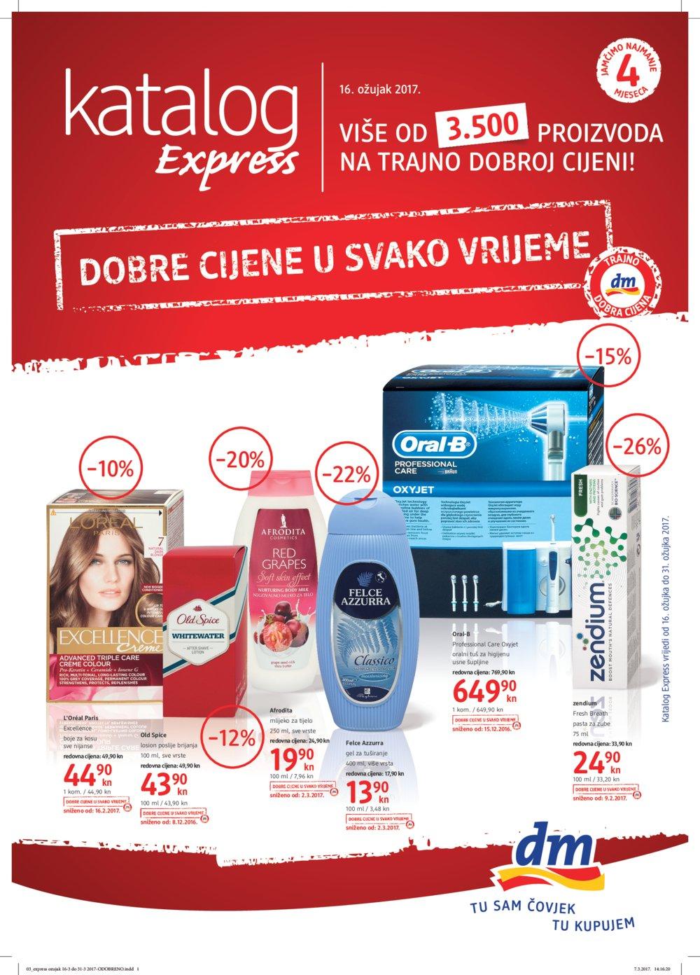 dm katalog Express do 31.3.2017.