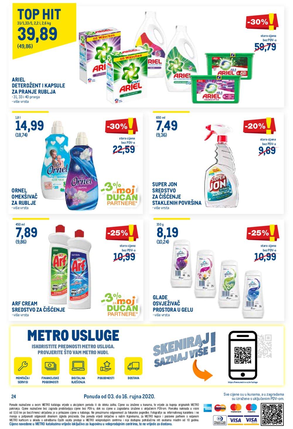 Metro katalog Prehrana 03.09.-16.09.2020. Jankomir i Sesvete