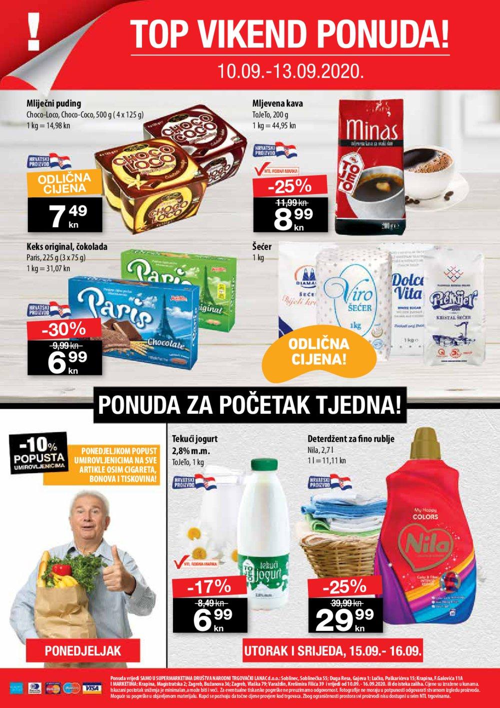 NTL katalog Akcija 10.09.-16.09.2020. Soblinec, Duga Resa, Lučko, Krapina, Zagreb, Varaždin