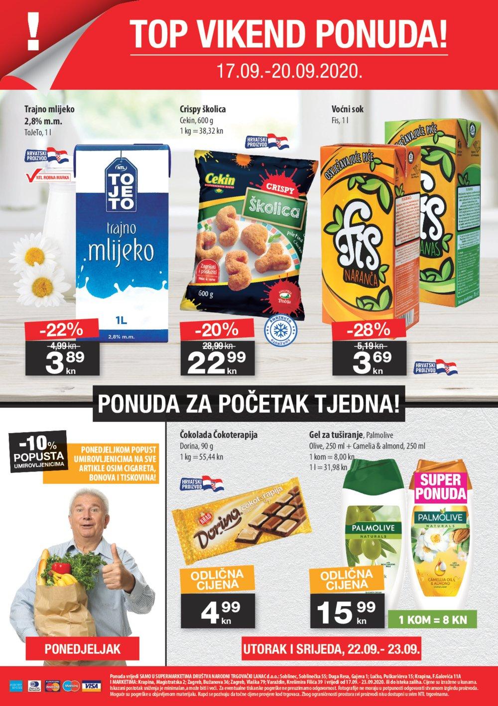 NTL katalog Akcija 17.09.-23.09.2020. Soblinec, Duga Resa, Lučko, Krapina, Zagreb, Varaždin