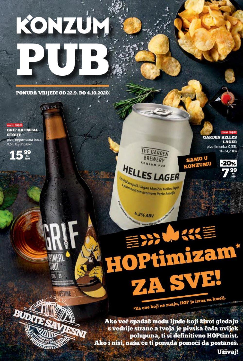 Konzum katalog Pub 22.09.-04.10.2020.