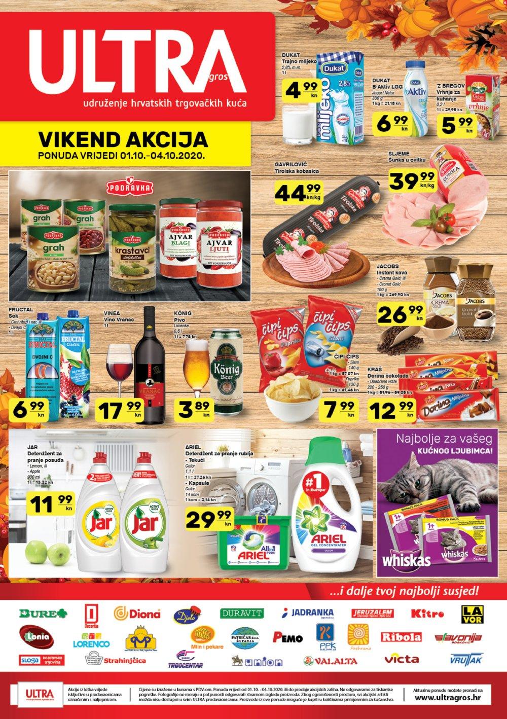 Prehrana katalog Ultra gros Vikend Akcija 01.10.2020-04.10.2020.