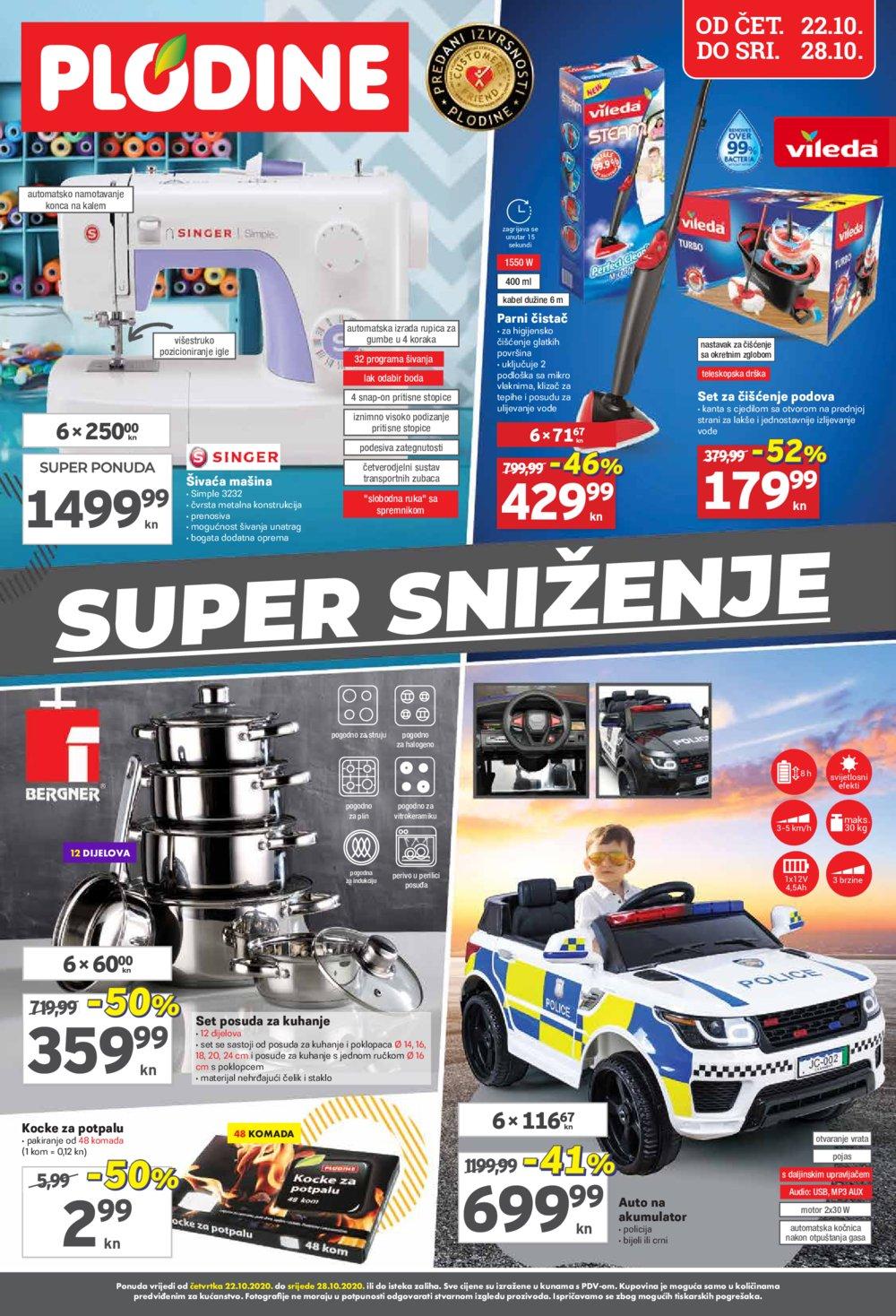 Plodine katalog Super sniženje 22.10.-28.10.2020.