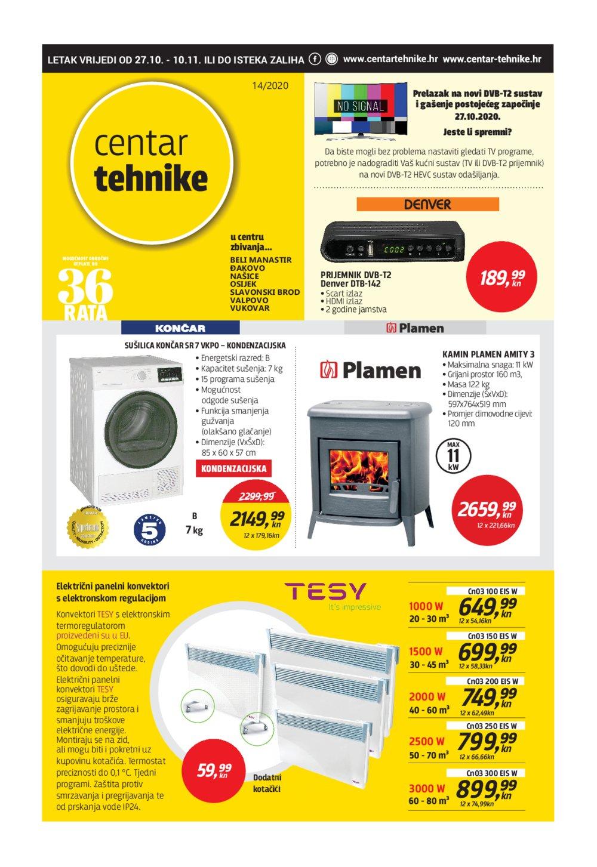 Centar Tehnike katalog Akcija 27.10.-10.11.2020.
