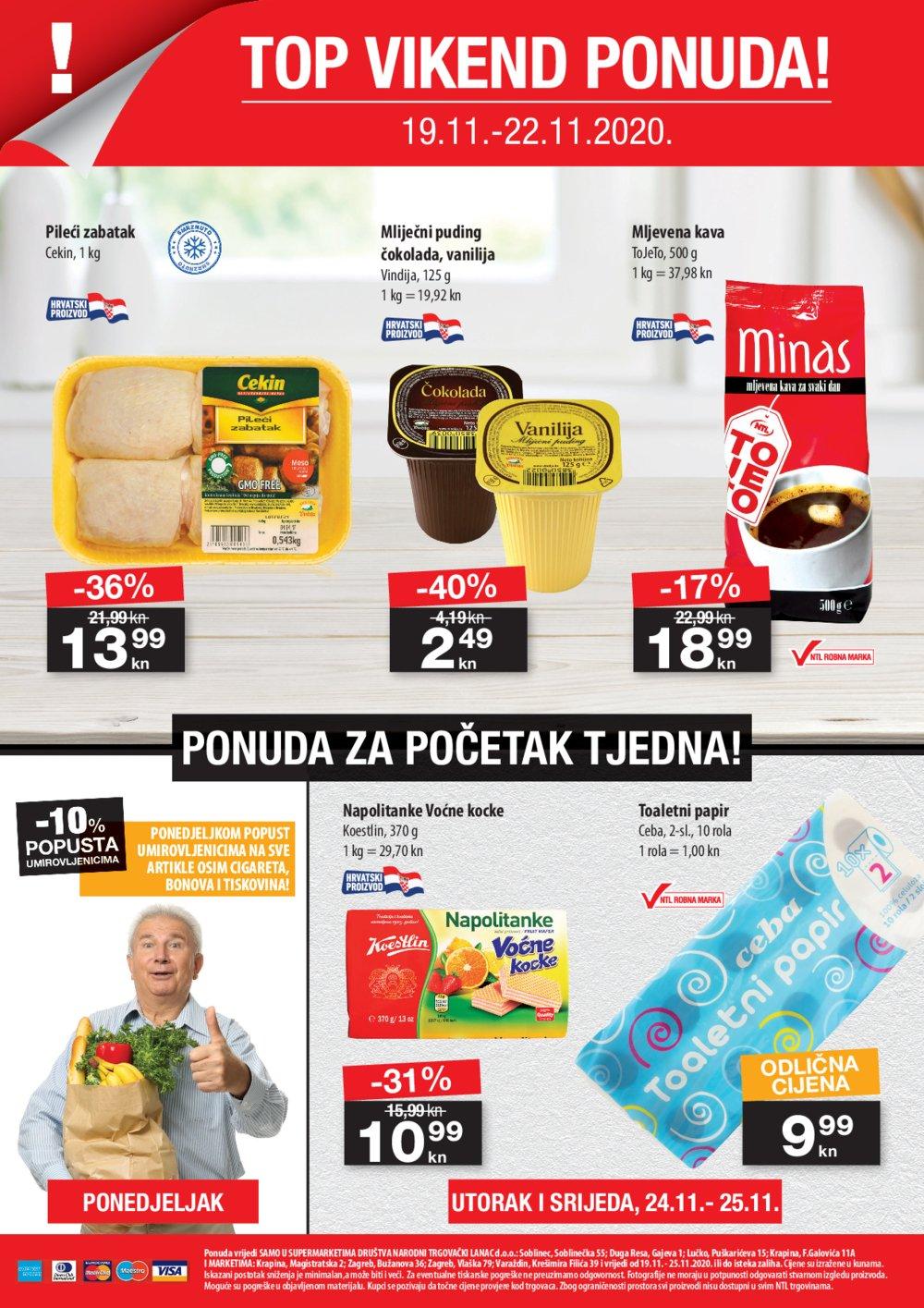 NTL katalog Akcija 19.11.-25.11.2020. Duga Resa, Krapina, Lučko, Zagreb, Varaždin