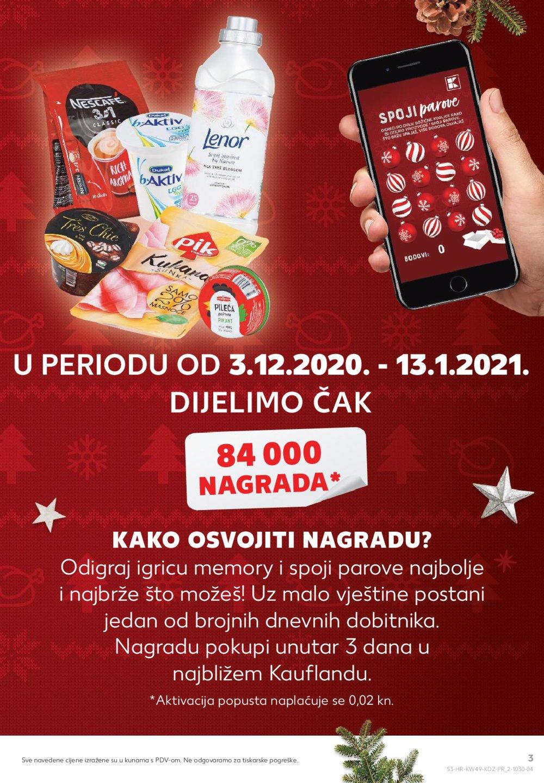 Kaufland katalog Akcija 03.12.-09.12.2020. VG, Dugo Selo, Makarska, Sinj, Poreč i Vukovar