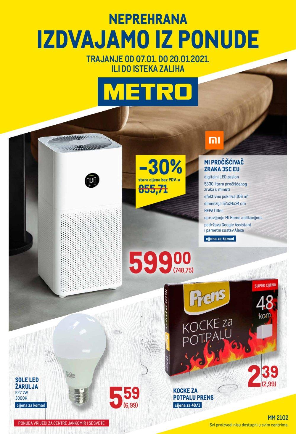 Metro katalog Neprehrana 07.01.-20.01.2021. Jankomir i Sesvete