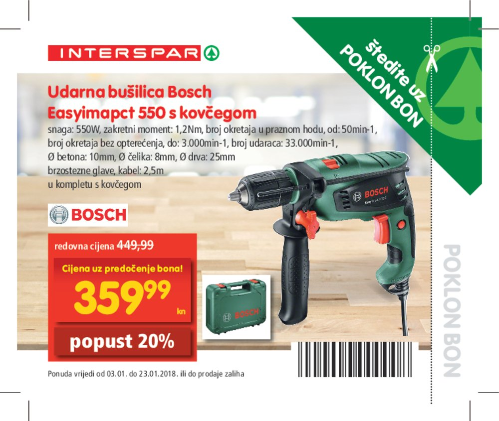 Interspar katalog bonovi od 03.01.2018. do 23.01.2018.