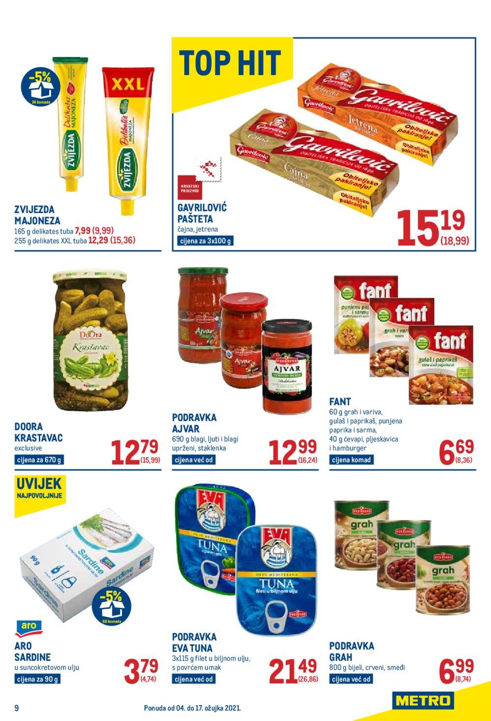 Metro katalog Prehrana 04.03.-17.03.2021.