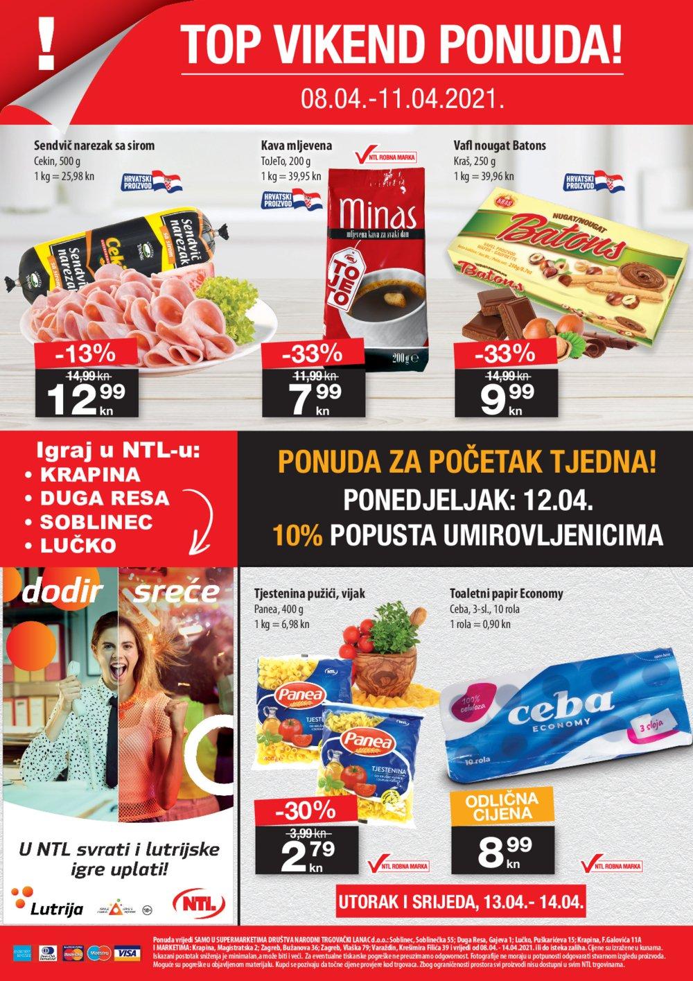 NTL katalog Akcija 08.04.-14.04.2021. Soblinec, Duga Resa, Lučko, Krapina, Zagreb, Varaždin
