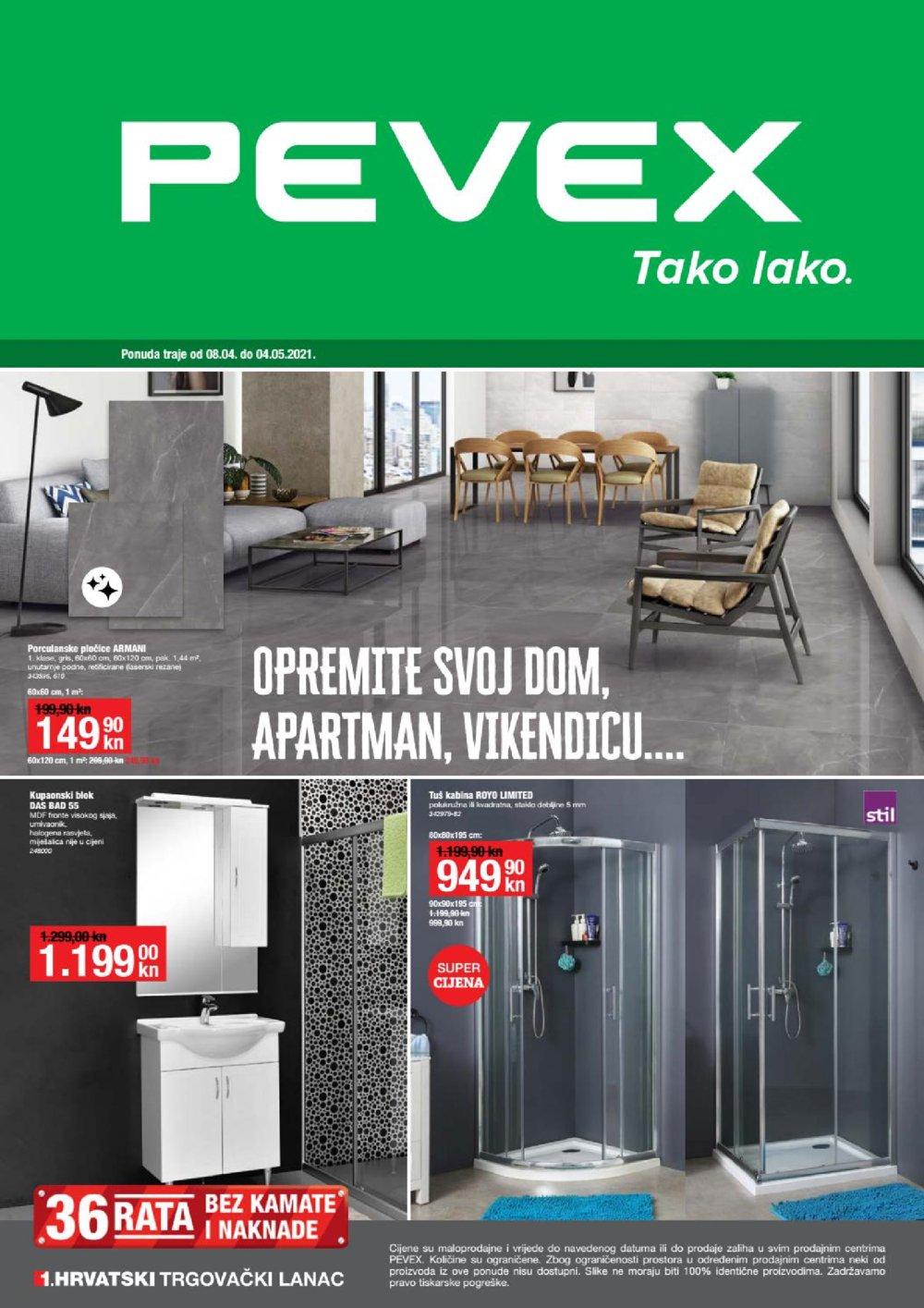Pevex katalog Akcija Opremite svoj svom 08.04.-04.05.2021.