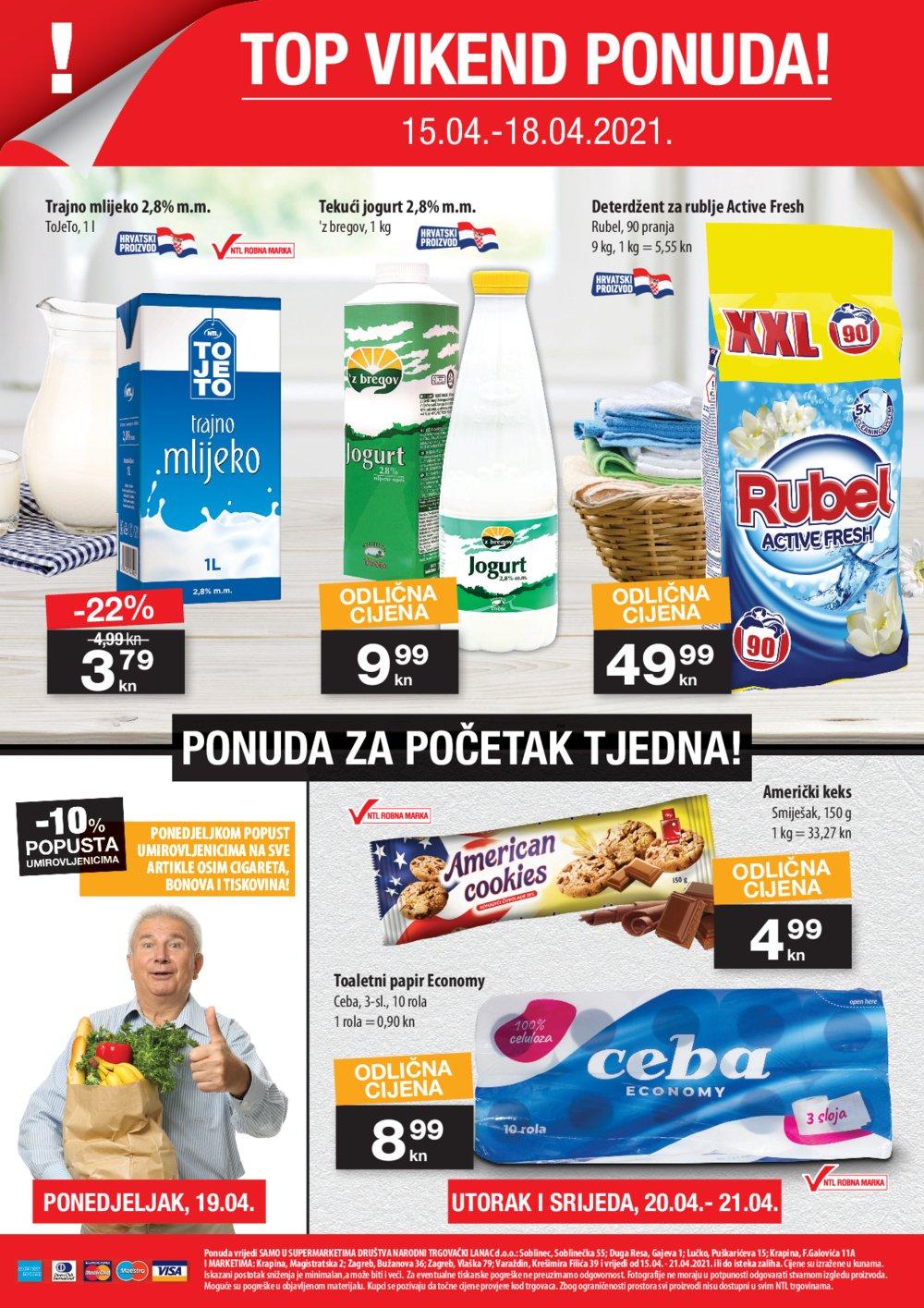 NTL katalog Akcija 15.04.-21.04.2021. Soblinec, Duga Resa, Lučko, Krapina, Zagreb, Varaždin