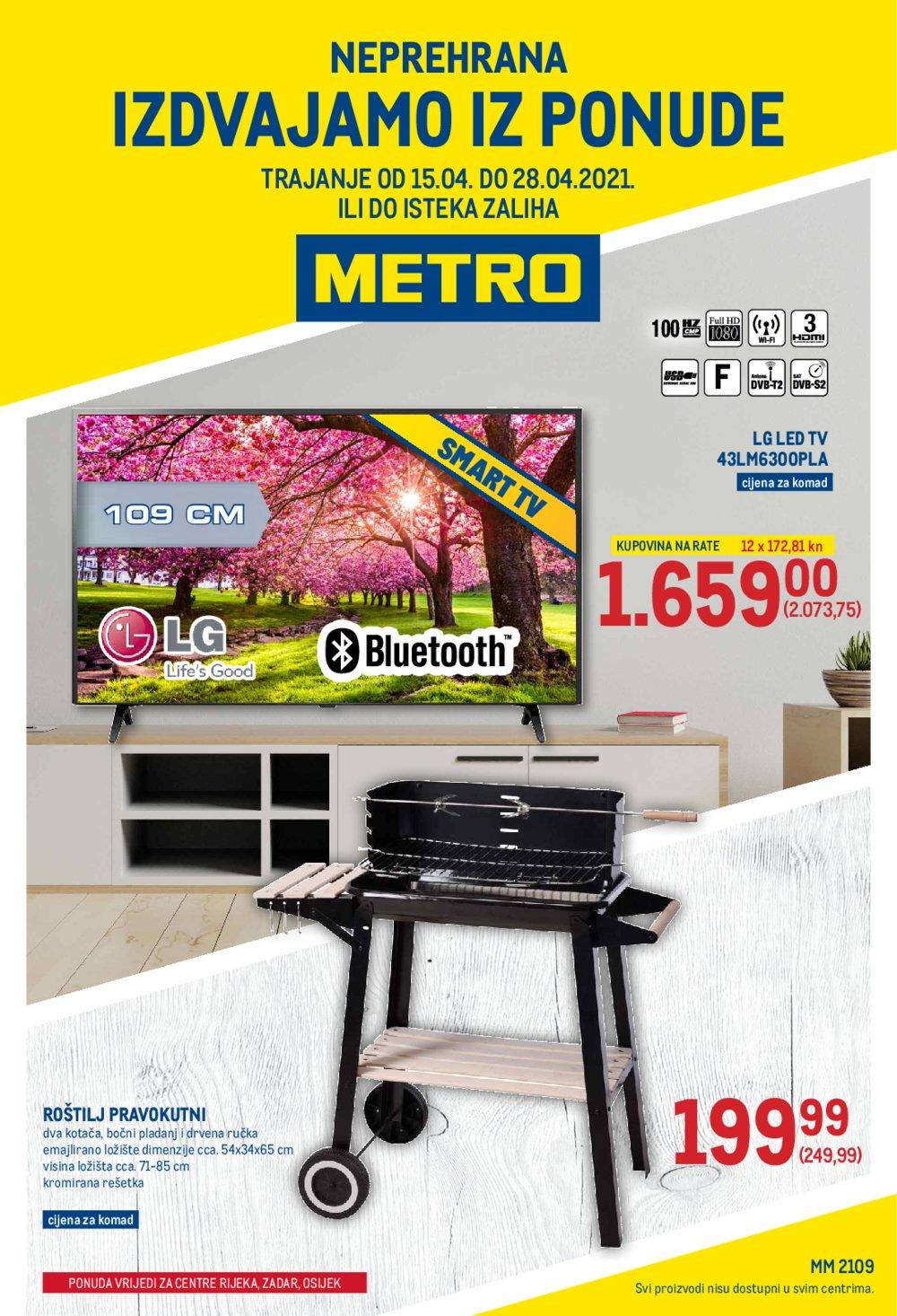 Metro katalog Akcija Neprehrana 15.04.-28.04.2021. Ri, Zd, Os