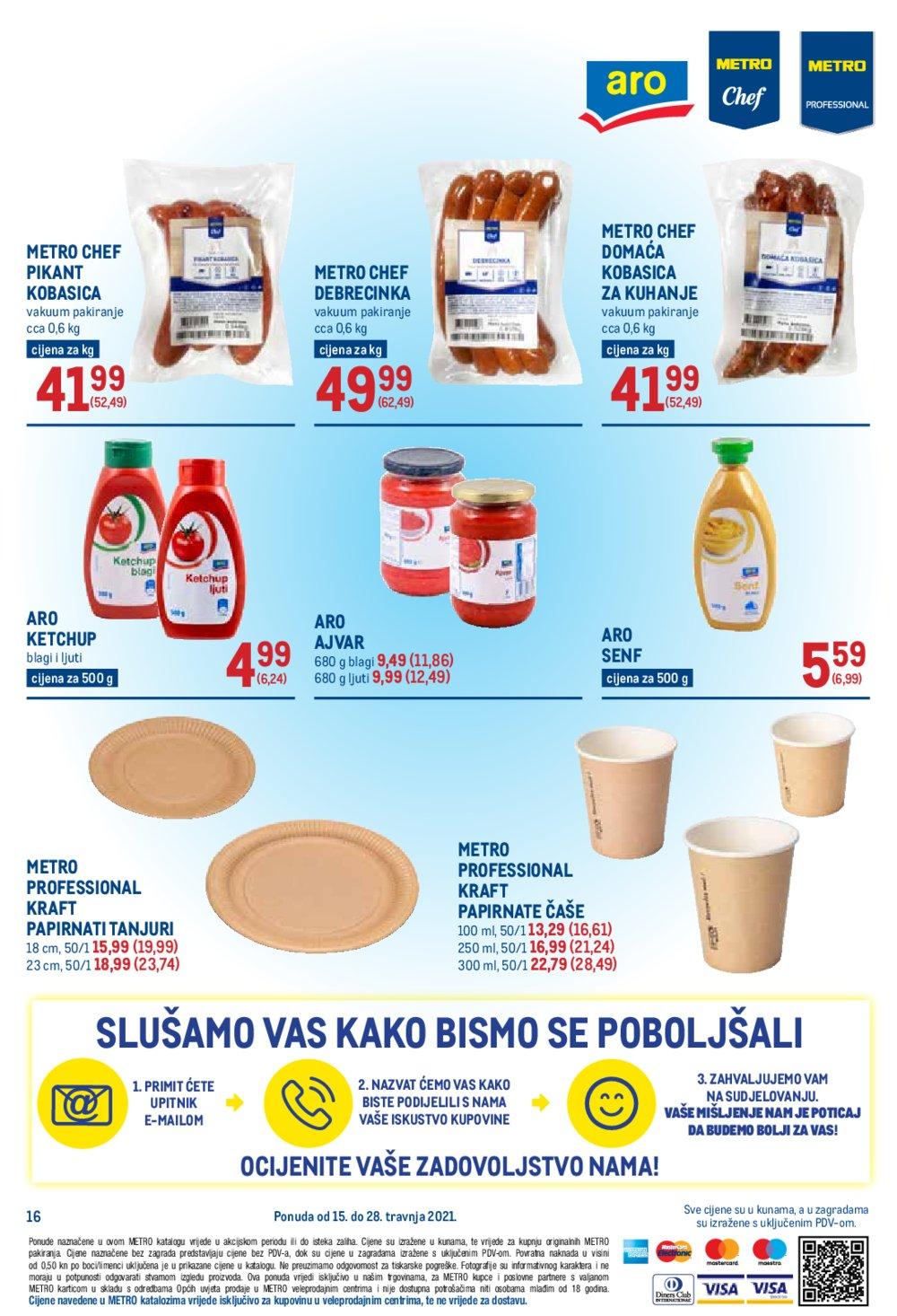 Metro katalog Akcija Prehrana 15.04.-28.04.2021.