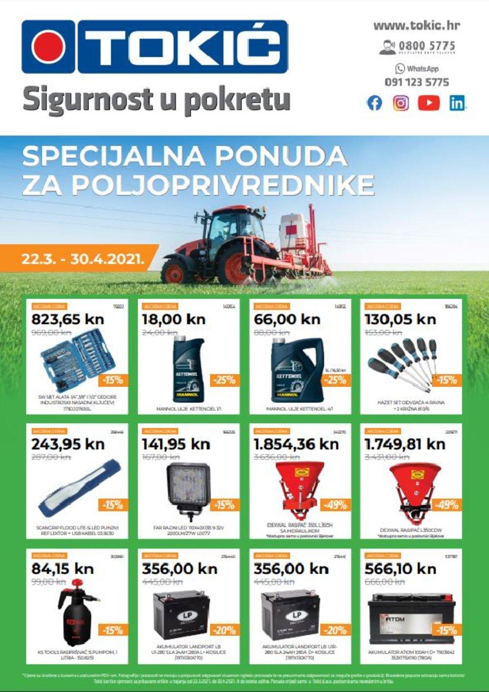 Tokić katalog Akcija poljoprivreda 22.03.-30.04.2021.
