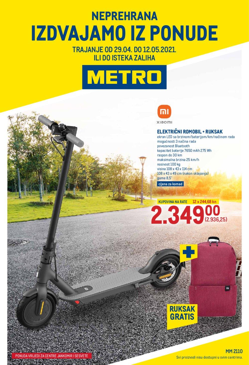 Metro katalog Akcija Neprehrana 29.04-12.05.2021. Jankomir i Sesvete