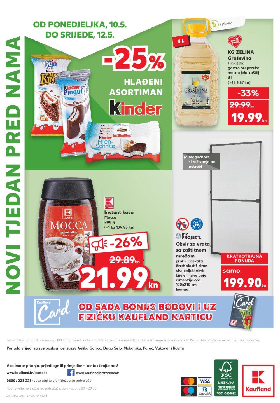 Kaufland katalog Akcija odabrane poslovnice 06.-12.05.2021.