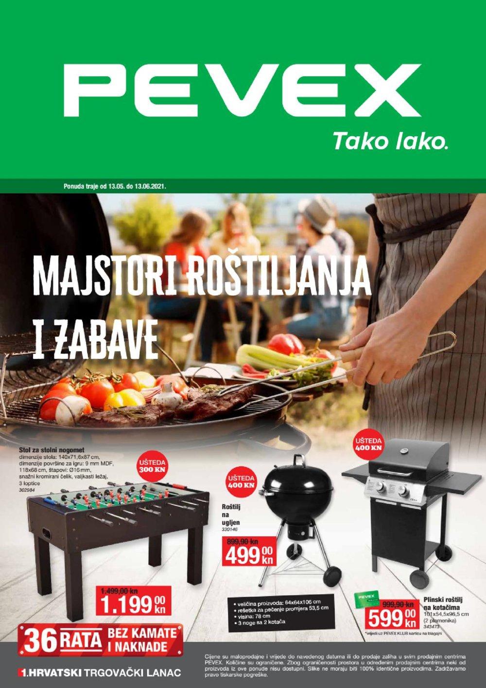 Pevex katalog Majstori roštiljanja 13.05.-13.06.2021.