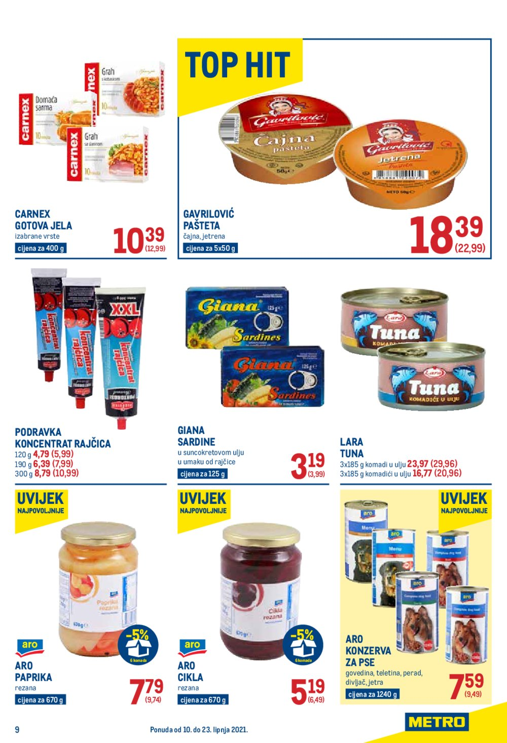 Metro Prehrana katalog Akcija 10.06.-26.06.2021.