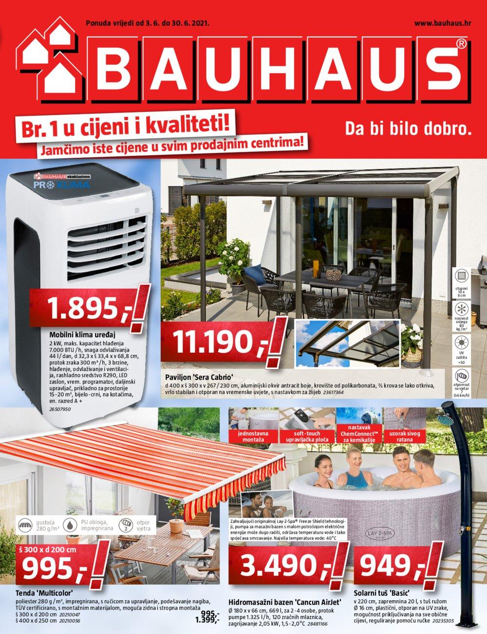 Bauhaus katalog Akcija Lipanj 03.06.-30.06.2021.