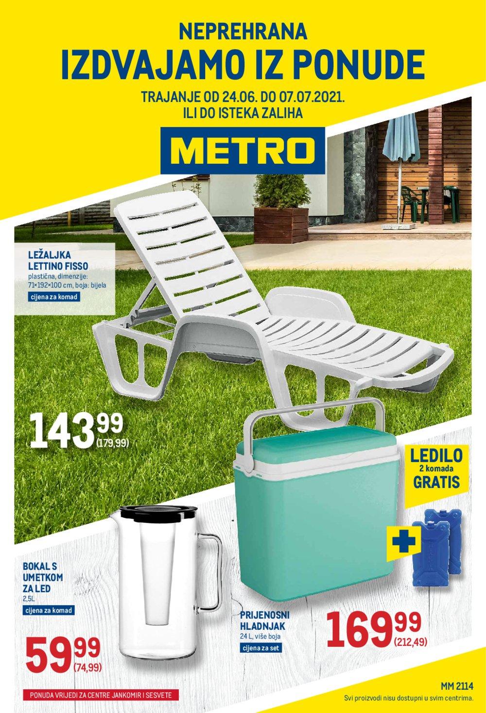 Metro Neprehrana katalog Akcija 24.06.-07.07.2021. Jankomir i Sesvete