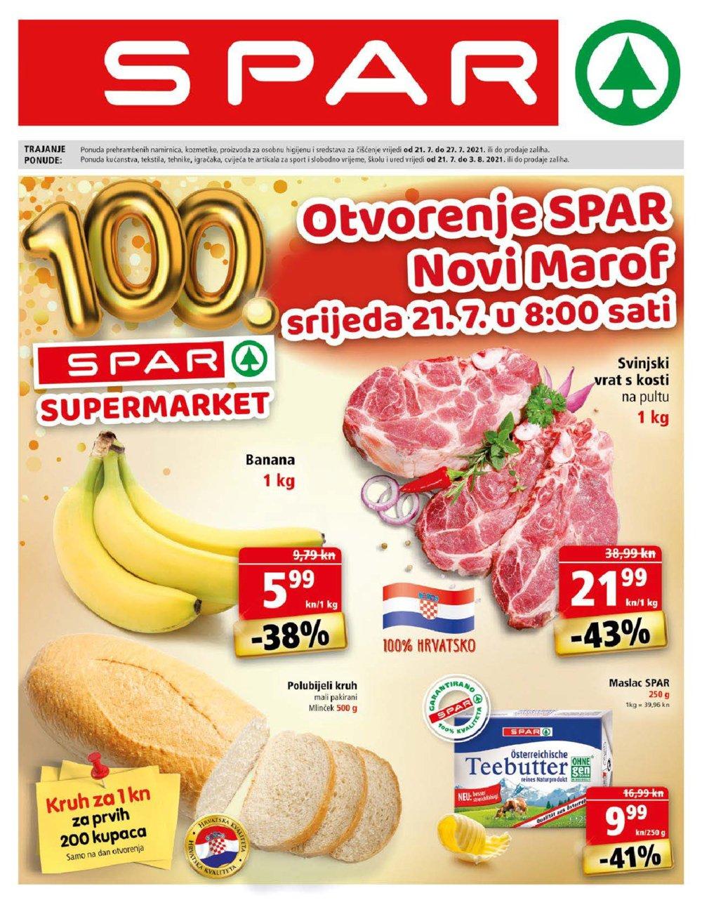 Spar katalog Otvorenje Novi Marof 21.07.-03.08.2021.