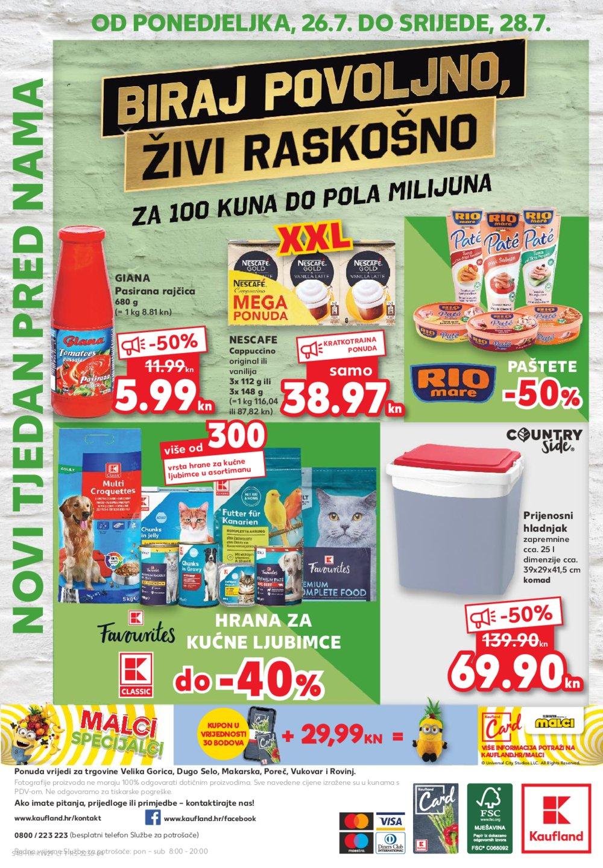 Kaufland katalog Akcija 22.07.-28.07.2021. odabrane poslovnice Velika Gorica, Dugo Selo, Makarska, Poreč, Vukovar i Rovinj