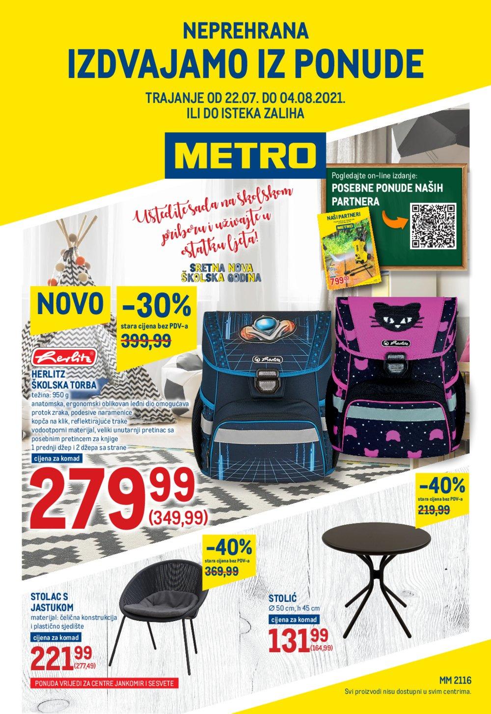 Metro Neprehrana katalog Akcija 22.07.-04.08.2021. Jankomir i Sesvete