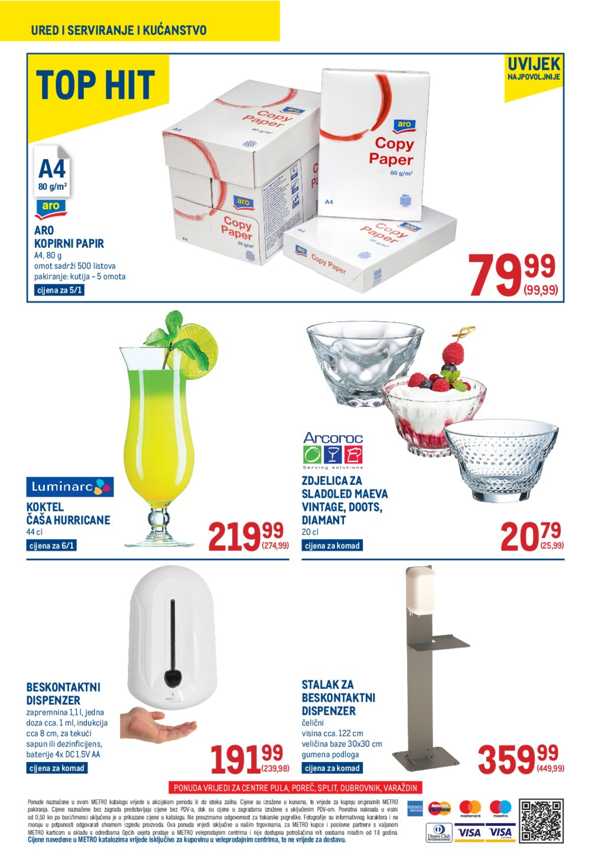 Metro Neprehrana katalog Akcija 22.07.-04.08.2021. Pula, Poreč, Split, Dubrovnik i Varaždin