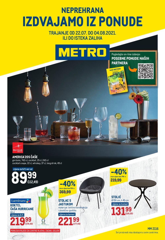 Metro Neprehrana katalog Akcija 22.07.-04.08.2021. Rijeka,Zadar i Osijek
