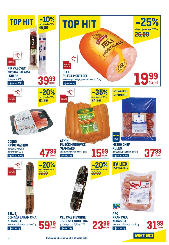 Metro Prehrana katalog Akcija 22.07.-04.08.2021.