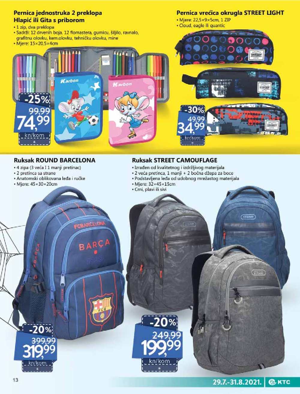 KTC katalog Akcija Oprema za školu 29.07.-31.08.2021.