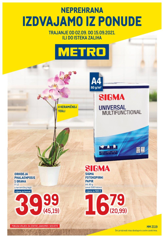 Metro katalog Neprehrana 02.09.-15.09.2021. Sesvete i Jankomir