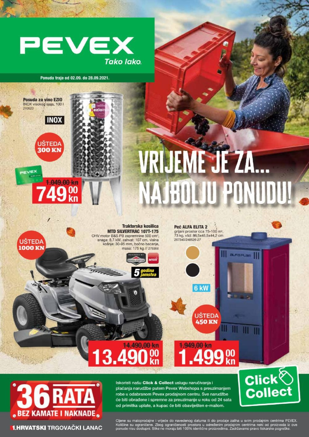 Pevex katalog Akcija Najbolje cijene 02.09.-28.09.2021.