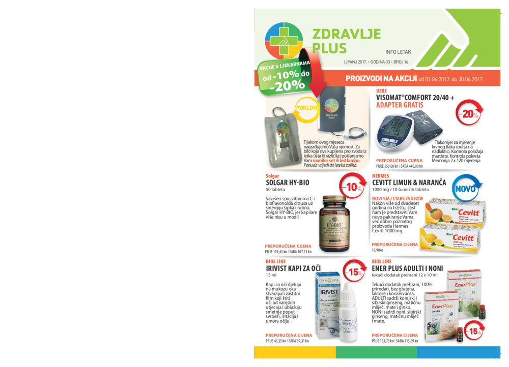 Zdravlje plus katalog Lipanj 2017 od 01.06.2017. do 30.06.2017.