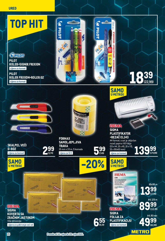 Metro katalog Akcija Neprehrana 16.09.-29.09.2021. Jankomir i Sesvete