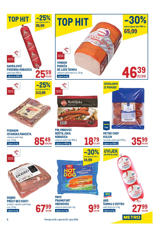 Metro katalog Akcija Prehrana 16.09.-29.09.2021.