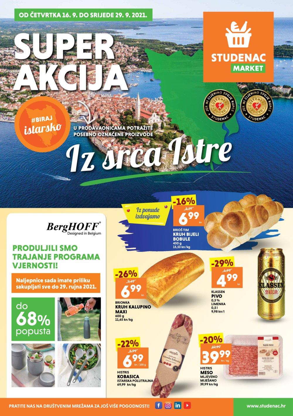 Studenac Katalog Akcija 16.09.-29.09.2021. Istra