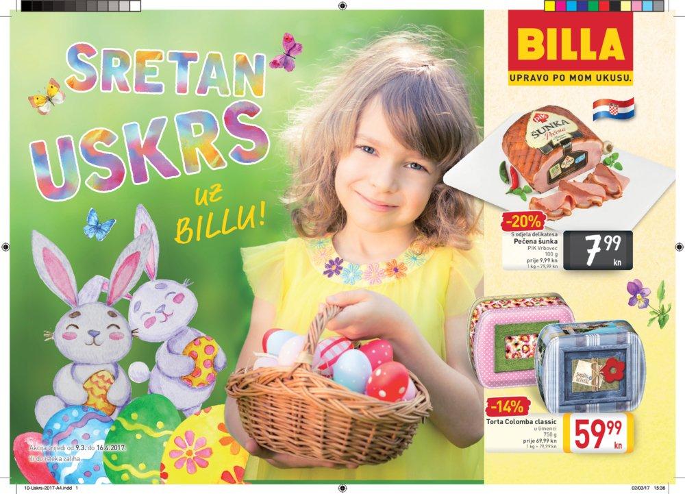 Billa katalog Sretan Uskrs do 16.04.2017.