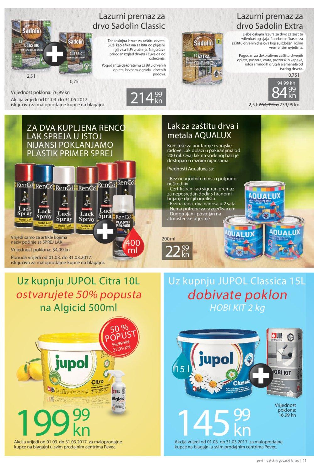 Pevec katalog super ponuda do 29.3.2017.