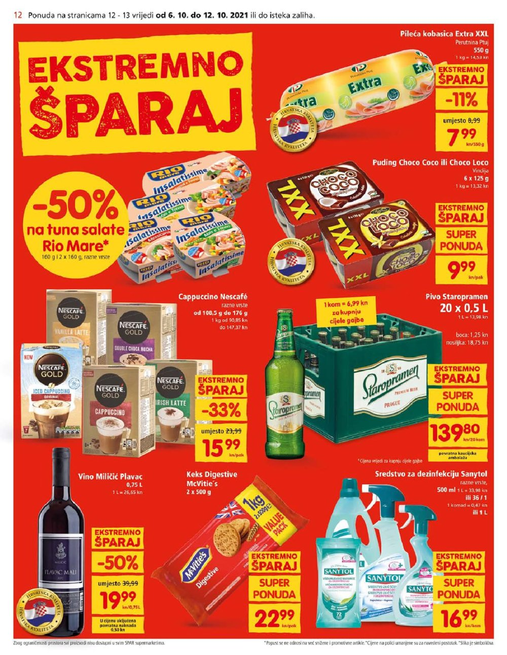 SPAR katalog Akcija 06.10.-19.10.2021.