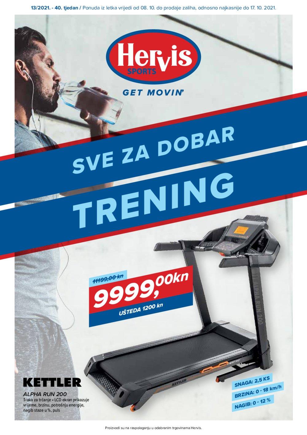 Hervis katalog Sve za dobar trening 08.10.-17.10.2021.