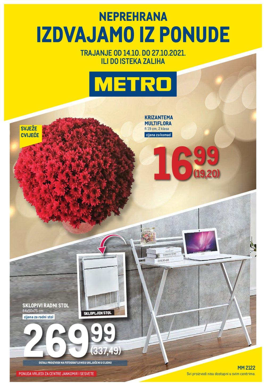 Metro katalog Neprehrana 14.10.-27.10.2021. Jankomir i Sesvete