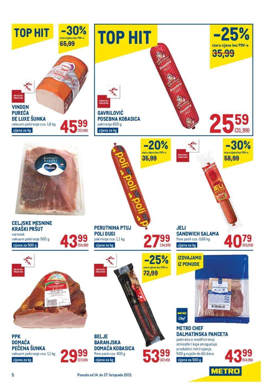 Metro katalog Prehrana 14.10.-27.10.2021.