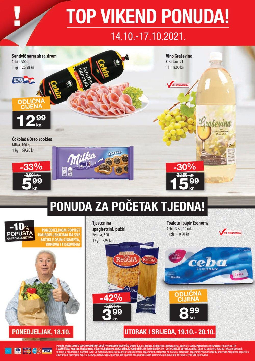 NTL katalog Akcija 14.10.-20.10.2021. Soblinec, Duga Resa, Krapina, Lučko, Zagreb, Varaždin